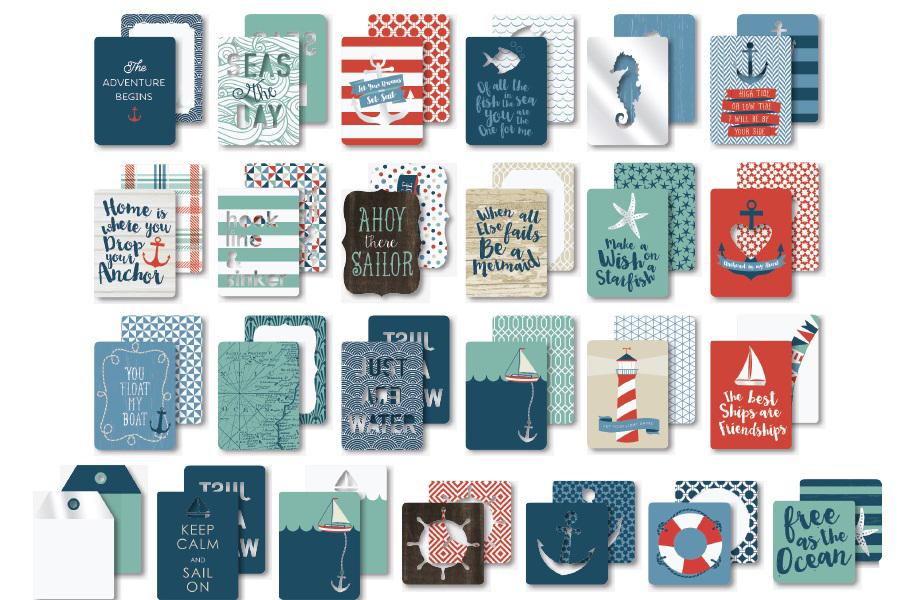 Журнальные карточки для Project Life из коллекции BY THE SEA от My Mind