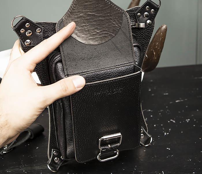 BAG369-1 Мужская набедренная сумка ручной работы из натуральной кожи фото 05
