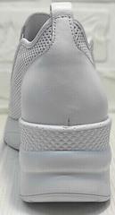 Белые слипоны женские кроссовки на танкетке casual стиль летние Derem 1761-10 All White.
