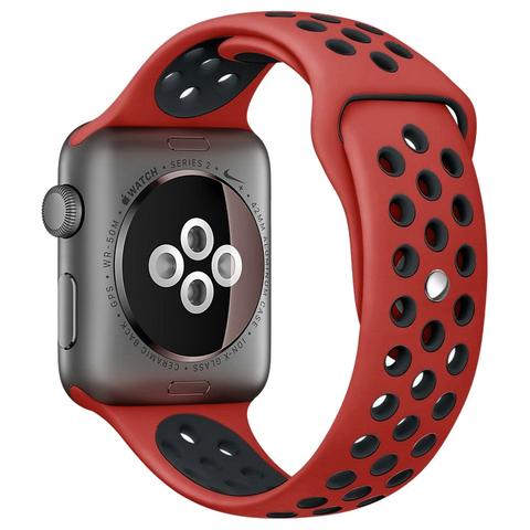 Ремешок Apple watch 38mm Sport Nike /red black/