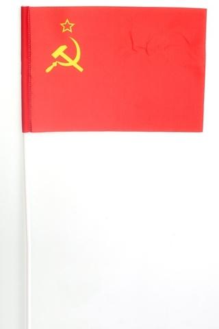 Купить флажок СССР - Магазин тельняшек.руФлажок СССР на палочке 15х23 см в Магазине тельняшек
