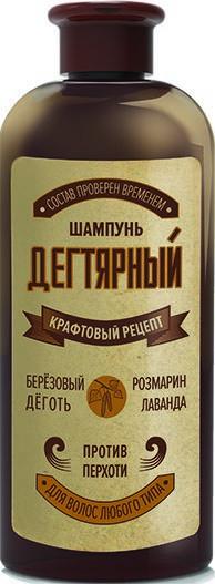 Крафтовый рецепт шампунь дегтярный 260 мл.