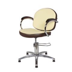 Парикмахерское кресло Орион Люкс-3 гидравлика хром, пятилучье хром на подпятниках