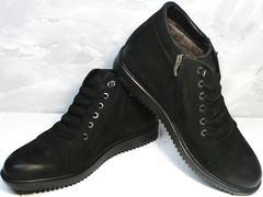 Ботинки на меху мужские Luciano Bellini 71783 Black.