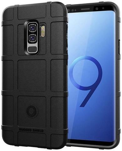 Чехол для Samsung Galaxy S9 Plus цвет Black (черный), серия Armor от Caseport