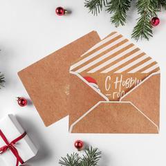 Конверт для денег «Письмо от Деда Мороза», 16 × 11 см