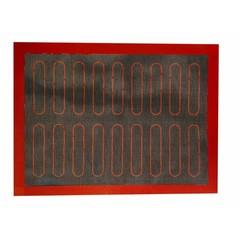 Коврик силиконовый перфорированный с разметкой для эклеров, 60х40 см