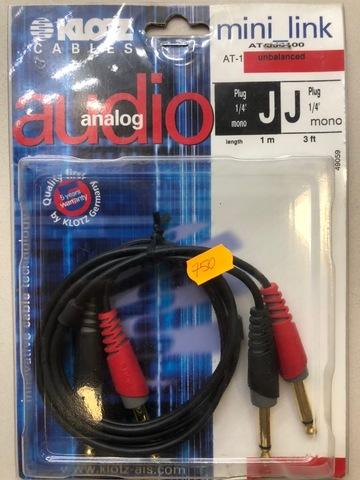 KLOTZ AT-JJ0100 - Соединительный аудио кабель Twincable