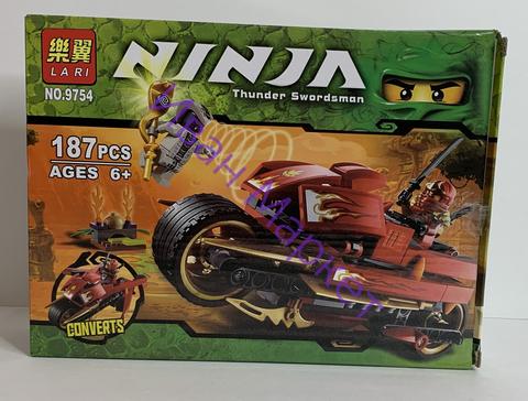Ниндзяго 9754 Супер быстрый мотоцикл ниндзи Кая 187д Конструктор