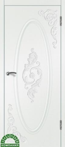 Дверь Камелия 2 (белый шёлк, глухая ПВХ), фабрика Зодчий