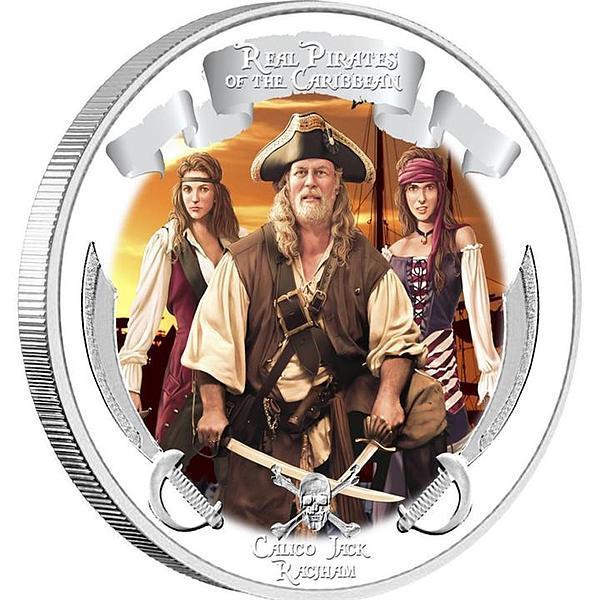 Набор 2 долларов. Пираты карибского моря. В сундуке с ключиком. Ниуэ. 2011 год