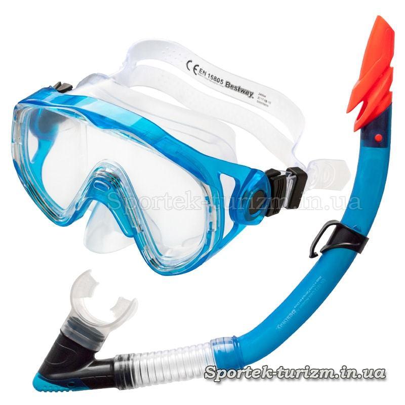 Комплект для дайвинга маска+трубка BESTWAY 24004