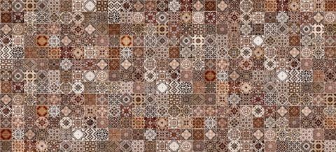 Плитка настенная CERSANIT Hammam 440х200 рельеф коричневый HAG111D