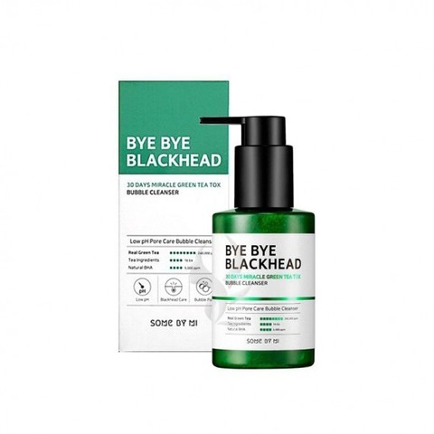 Some By Mi Bye Bye Blackhead 30 Days Miracle Green Tea Tox Bubble Cleanser маска-пенка от черных точек