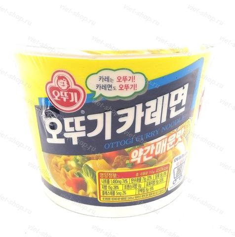 Корейская пшеничная лапша со вкусом карии Оттоги (Ottogi), 110 гр.