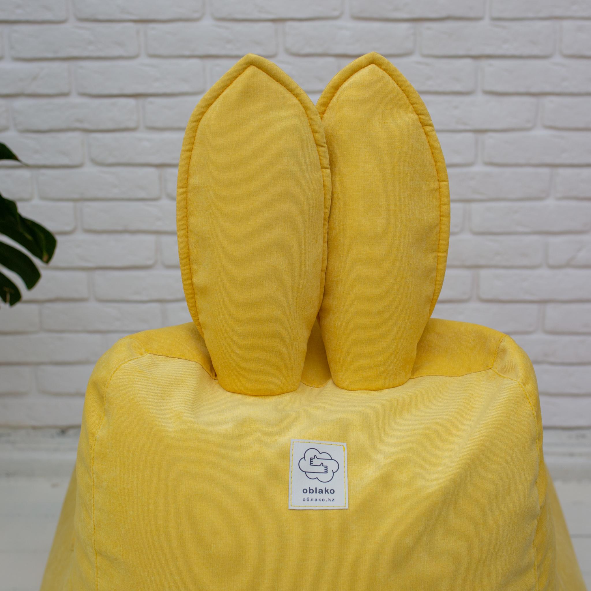 Кролик M микровельвет (жёлтый)