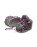 Спортивные ботинки - Серый / фиолетовый. Одежда для кукол, пупсов и мягких игрушек.