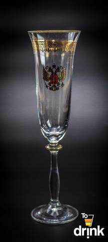 Подарочный набор из 6 хрустальных фужеров для шампанского «Министерский», 190 мл
