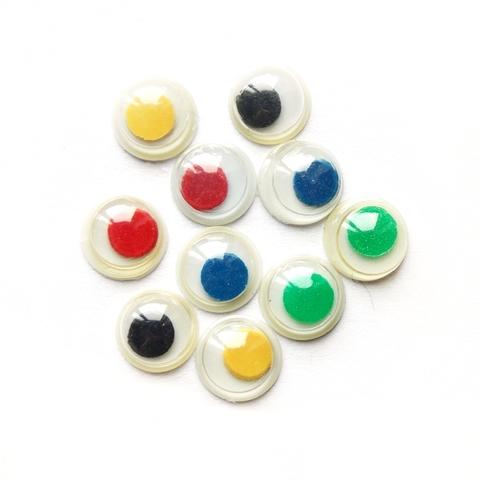 Глазки пластиковые цветные 10мм (10 шт.)