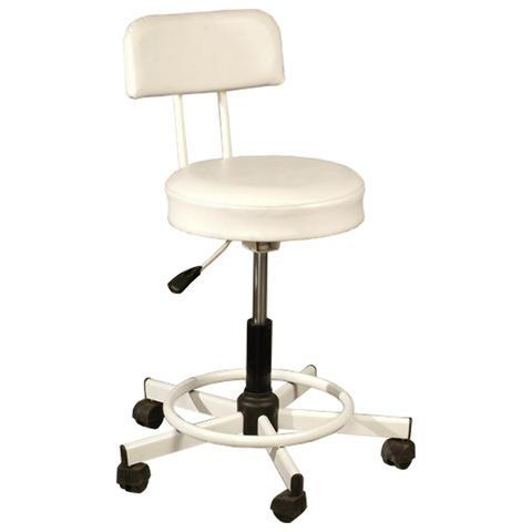 Кресло оператора РС12, без подлокотников, кожзам, черное/белое