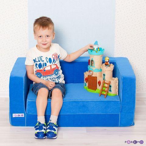 Раскладной игровой диванчик, цв. Голубой