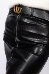 Юбка кожаная с карманами сзади недорого