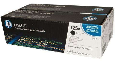Оригинальный картридж HP CB540AD (№125A), чёрный (двойная упаковка)