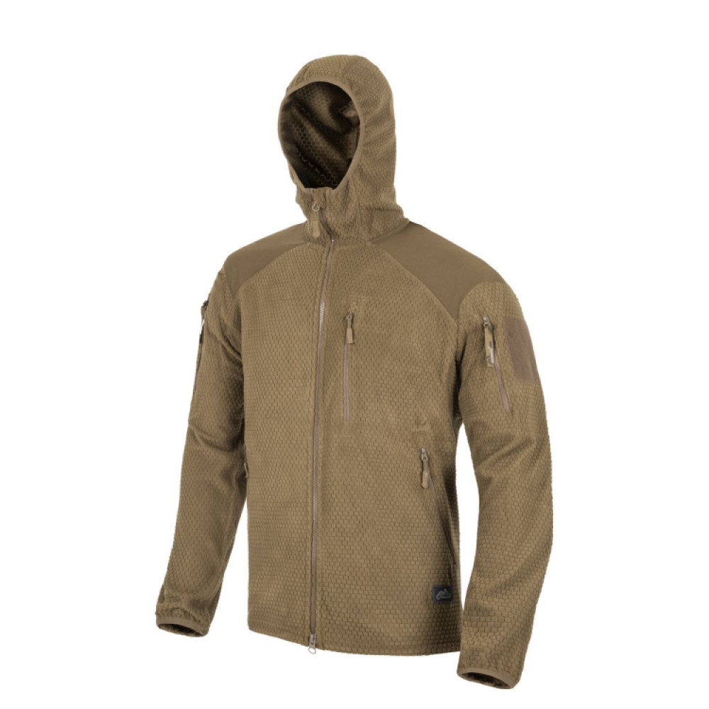 Толстовка Helikon ALPHA HOODIE - Grid Fleece - Coyote