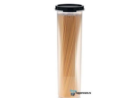 Компактус для спагетти 1,1л с чёрной крышкой