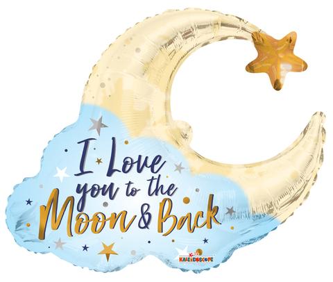 Шар фигура месяц i love you to the Moon & Back