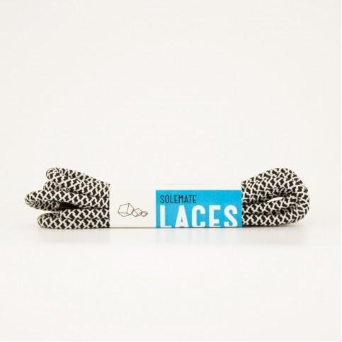 Шнурки Solemate Laces Бело-Черного Цвета