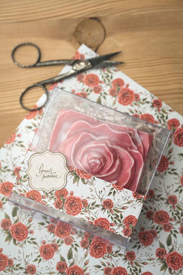 Этиклейка для мыла Красные розы