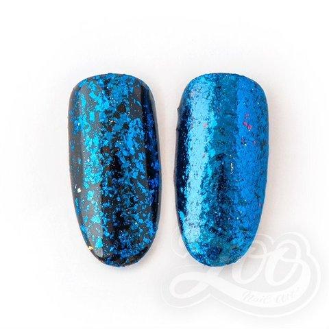 1264 Хлопья Юки синие металл
