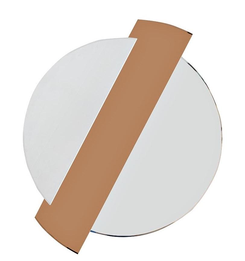 19-OA-6248 Зеркало с тонированной зеркальной вставкой 86*107*2,5