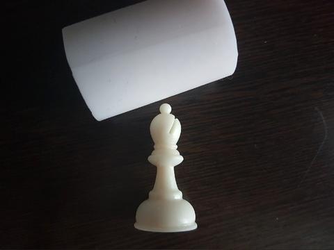 Силиконовый молд Шахматная фигура № 5   классика