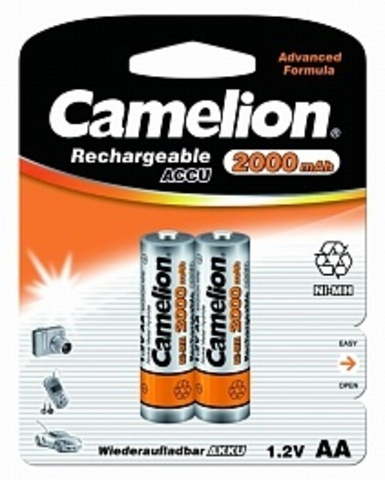 Аккумуляторы CAMELION R 6/2bl 2000 mAh Ni-MH