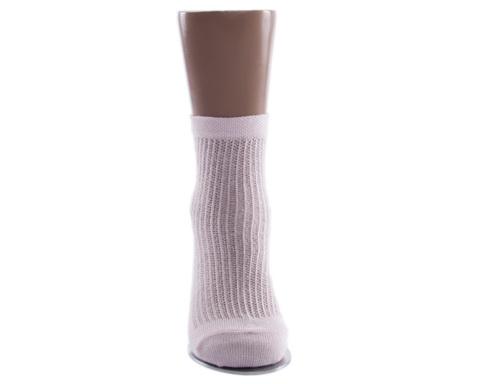 Носки детские тонкие розового цвета в сеточку