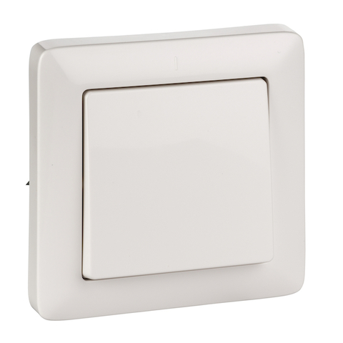 Выключатель одноклавишный 6 А 250 В. Цвет Белый. Schneider Electric(Шнайдер электрик). Hit(Хит). VS16-133-B