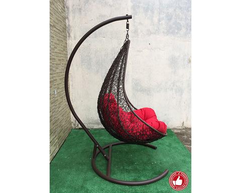 Подвесное кресло Принцесса коричневое