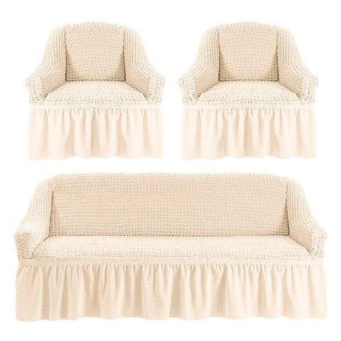 Комплект чехлов для дивана и двух кресел шампань.