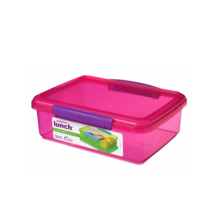 """Контейнер пищевой Sistema """"Lunch"""" 2 л, цвет Розовый"""