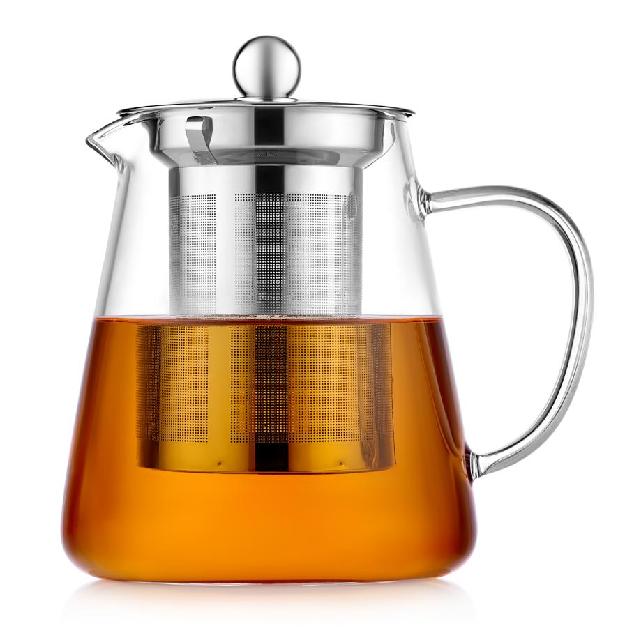 """Стеклянные заварочные чайники Стеклянный заварочный чайник с колбой """"Бостон"""", 750 мл 1-004-750.PNG"""