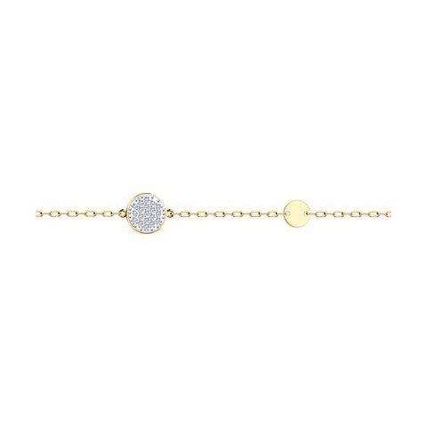 51-150-01342-1  - Браслет из золота с круглыми подвесками