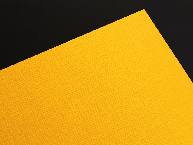 Эфалин с тиснением Лён, 120 г/м2 кукурузно-желтый