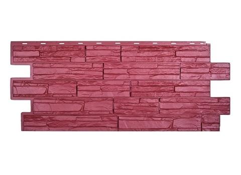 Фасадная панель Альпийская Скала - Красный