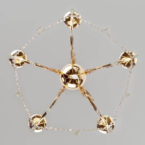 Подвесная люстра с хрусталем 10094/5 золото/прозрачный хрусталь Strotskis