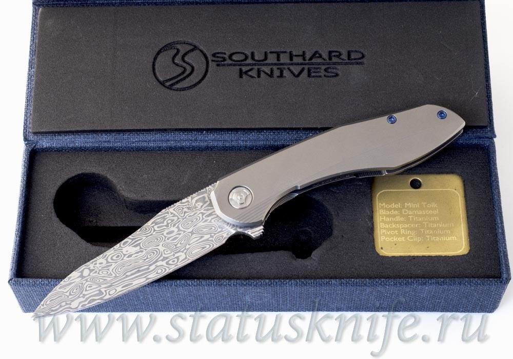Нож Mini Tolk Damasteel Brad Southard - фотография