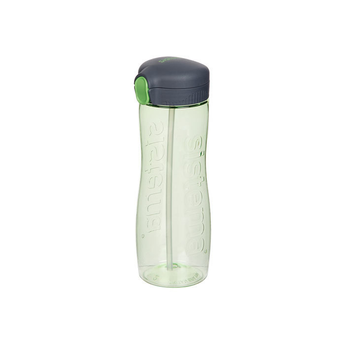 "Бутылка для воды с трубочкой Sistema ""Hydrate"", Тритан, 800 мл, цвет Зеленый"
