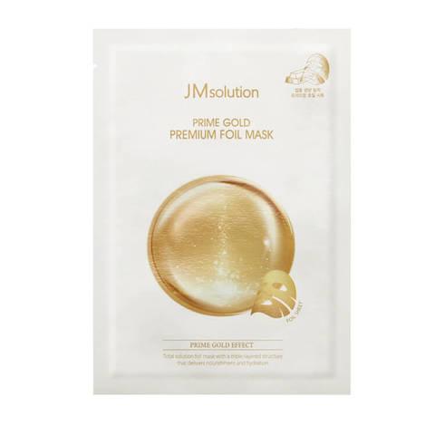 JMsolution Prime Gold Premium Foil Mask трехслойная увлажняющая маска с коллоидным золотом