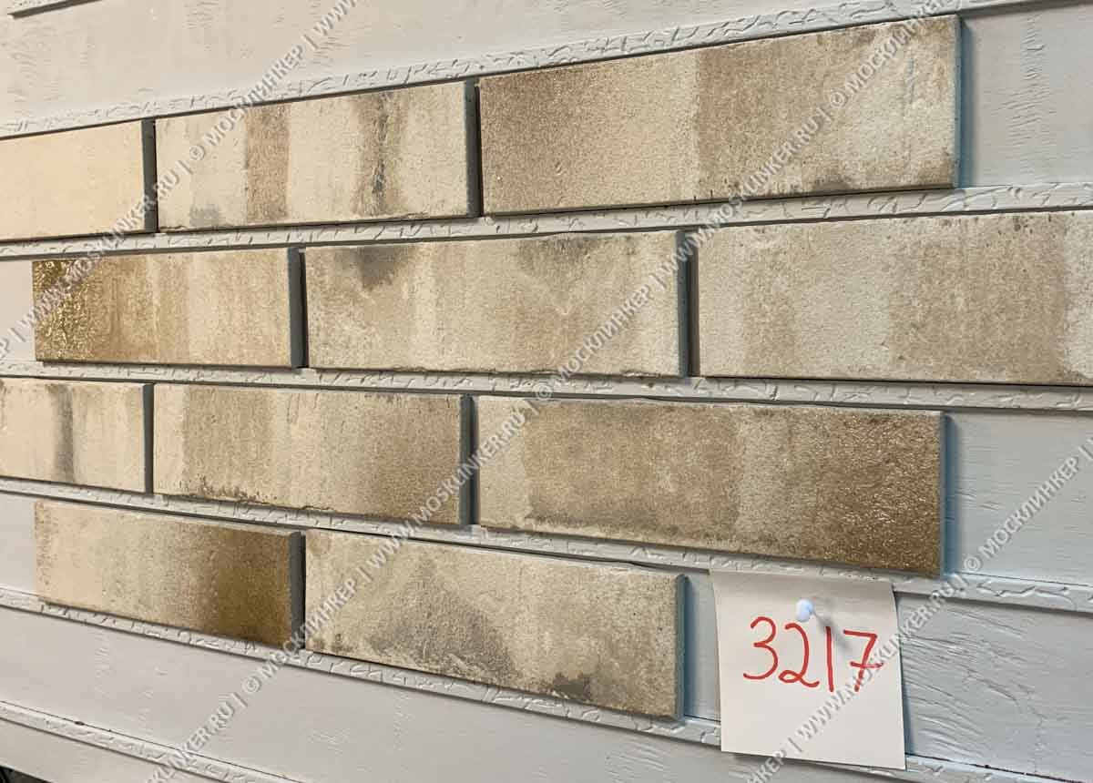 Stroeher Kontur 3217, beige - Клинкерная плитка для фасада и внутренней отделки